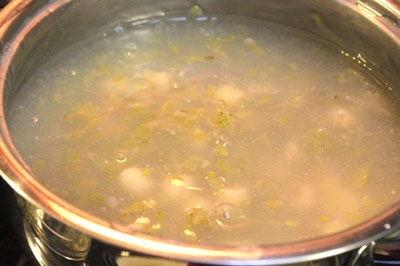 Cách nấu chè cốm hạt sen 4