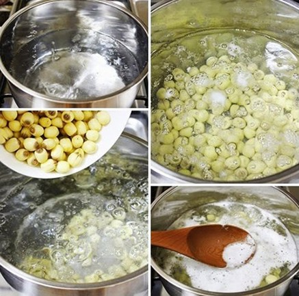 Cách nấu chè hạt sen nhãn nhục táo đỏ ngon mê ly