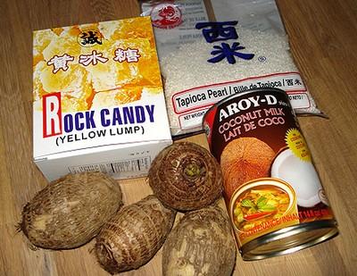 cách nấu chè khoai môn cốt dừa