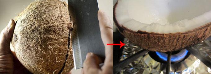 cách làm nước cốt dừa 2