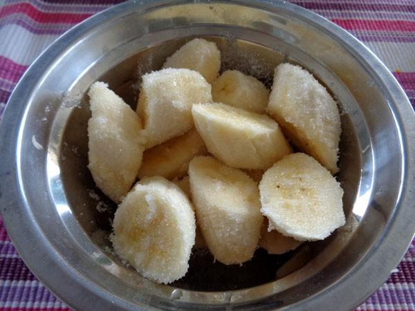 cách nấu chè chuối côt dừa 1a