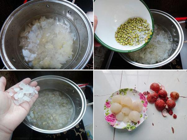 Cách nấu chè vải 7