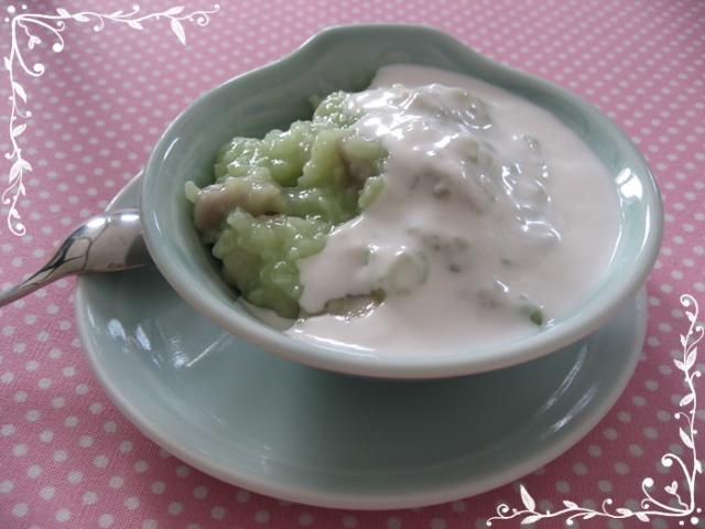 cách nấu chè khoai sáp đậu xanh1