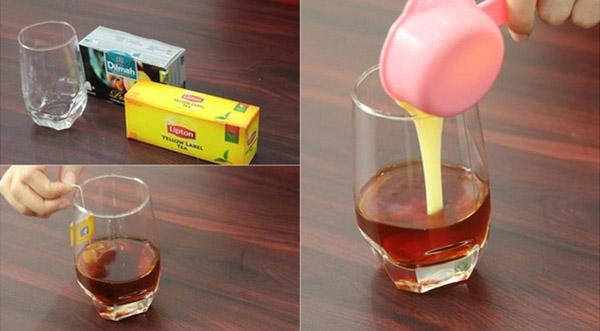 Pha phần trà sữa