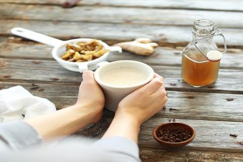 cách pha trà sữa gừng 2