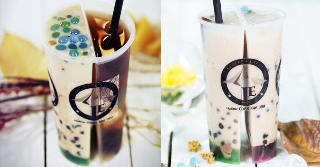 trà sữa 2 ngăn 2