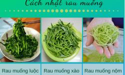 Cách nhặt rau muống đơn giản, đúng cách