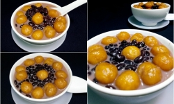 Cách nấu chè bí đỏ đậu đen gạo nếp đặc biệt thơm ngon