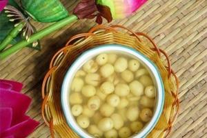 Cách nấu chè hoa bưởi hạt sen da sáng dáng đẹp