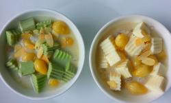 Cách nấu chè khúc bạch bằng bột rau câu dẻo ngon