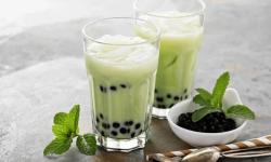 Mát lạnh cực sảng khoái với cách làm trà sữa bạc hà