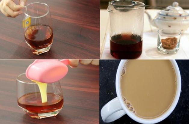 Pha trà sữa lipton